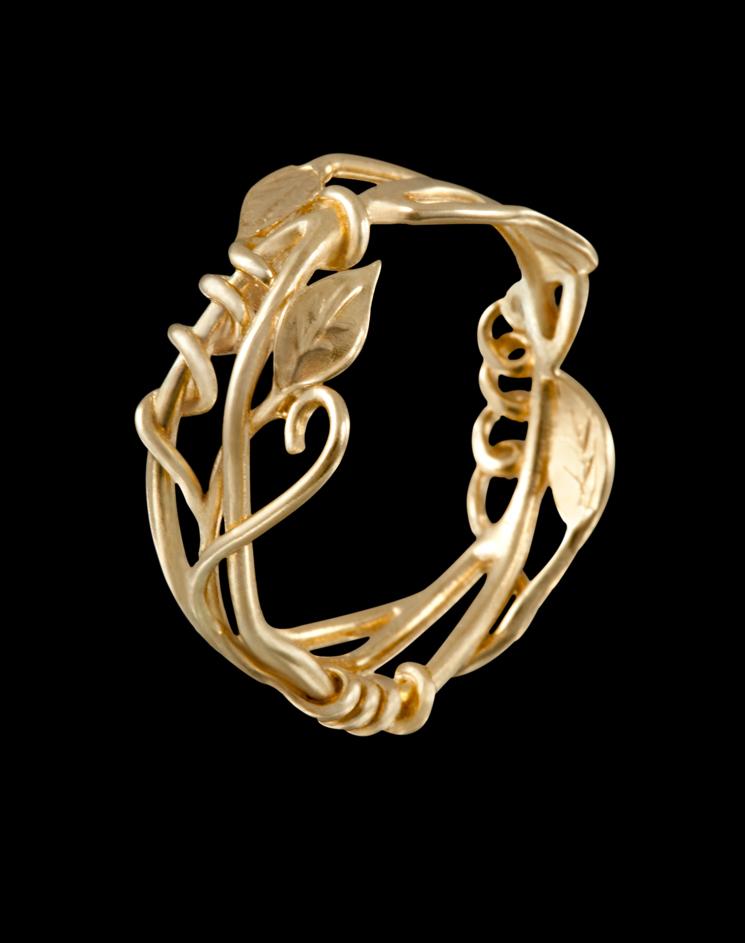 Vine Amp Leaf Ring Size 7 Art Jewelry By Poppy